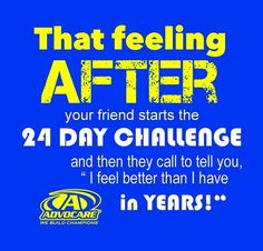Take the Challenge! #Advocare #24DC https://www.advocare.com/130416900/Store/default.aspx