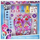 TownleyGirl My Little Pony Spa Set, Nail Polish, Buffer, File, Sandals (Girls 10-11) and Toe Separators