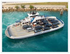 Ferry. Fisher Island. Miami, Florida.