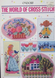 Ondori The World Of Cross Stitch Pattern Book