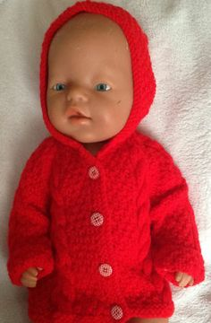 "Knitted Dolls Clothes 15 17"" Baby Born Doll Tiny Tears Reborn 