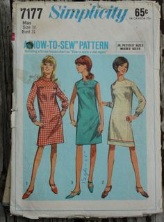 Simplicity 7177 1960s 60s How To Sew Dress by EleanorMeriwether