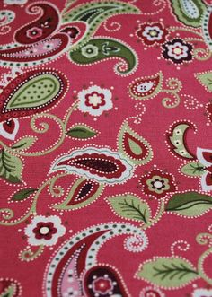 Red and Green Paisley