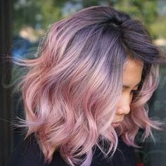 Do a purple shade that I have saved to hair, with a pink like this