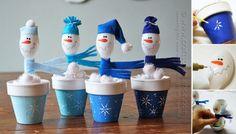 Cute and Easy Christmas Craft: DIY Plastic Spoon Snowmen