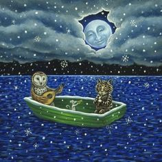 Diane Kremmer - Owl and Pussycat   'A Tune for the Moon', 2009.