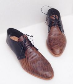 The Bex Oxford Combo  Handmade to Order Black by SevillaSmith