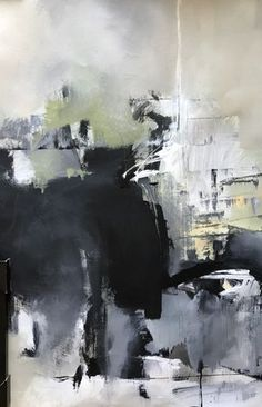 """Abstract Artists International: Contemporary Abstract Art Painting, 30 Day Challenge """"January 1st- Abstract"""" by Intuitive Artist Joan Fullerton"""