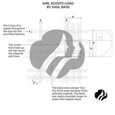 Girl Scout Logo by Saul Bass Logo Guidelines, Design Guidelines, Graphic Design Tips, Logo Design Inspiration, Girl Scout Logo, Girl Scouts, Logo Branding, Branding Design, Typo Logo