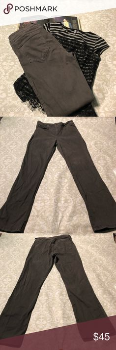 Not Your Daughters Jeans Skinny Jeans Lovely Grey NYDJ size 14. Excellent condition except for the single belt loop ripping.  Still lots of life left!  Measurements: Inseam: 32 inches  Waist: 16 inches Rise: 10.5 inches NYDJ Jeans Skinny