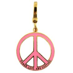 NWB Juicy Couture Peace Sign Charm - YJRU2655 www.TheConsignmentBag.com We ship Worldwide! New items arrive Daily!  Shop often and SAVE more!