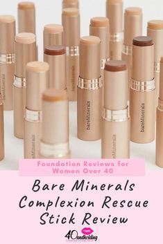 I tested this foundation stick on mature skin and here are the results! Full Review and wear test now on the Beauty Blog.  #foundation #foundationover40 #beauty #beautyover40 #makeup #makeupreview #bareminerals #40andholdinglife Bare Minerals Complexion Rescue, Makeup Tips To Look Younger, Beauty Tips, Beauty Hacks, Beauty Over 40, Makeup Over 40, Foundation Stick, Wear Test, Ageless Beauty