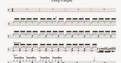 Partitura Batería     Deep Purple - Smoke On The Water                           Volver al Listado de Partituras