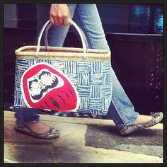 #shopping#basket#papergluebamboo#Daruma#blue'n'white#red#walking#aw2013