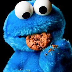 Cookie monster :) I've been told l have created a monster.  My monster likes cookies (and nice things)....lol and I love my monster.