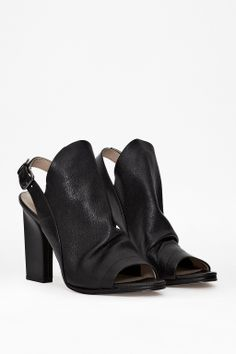 Ivy Leather Peep Toe Heels - French Connection Usa