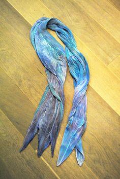 Chama Navarro - new arrivals Shibori silk scarf - Pañuelo de seda plisado. 95€