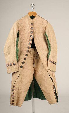 Suit  1750-1765  The Metropolitan Museum of Art