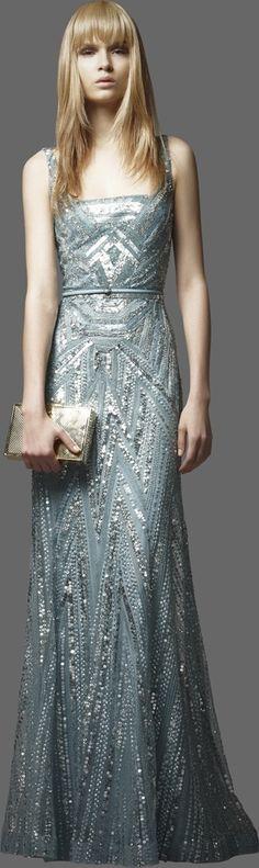 Wedding Ideas: gray-blue-silver-gown...sammy maybe?