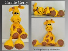 crochet pattern, amigurumi, giraffe  - pdf, English or German