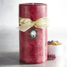 Pier 1 Imports Sugar Plum Mottled 3x6 Pillar Candle ($8.36) ❤ liked on Polyvore featuring home, home decor, candles & candleholders, burgundy, black currant candle, vanilla candles, cranberry candles, burgundy candles and pier 1 imports