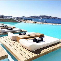 Cavo Tagoo Mykonos - Greece via @beautiful.travelpix Vacation Wishes, Need A Vacation, Vacation Destinations, Dream Vacations, Vacation Trips, Vacation Spots, Mykonos Island, Mykonos Greece, Santorini