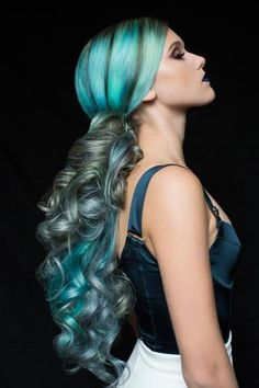 HOW-TO: Arctic/Sky Blue, Silver Slate and Viridian Green Colormelt by Pravana | Modern Salon