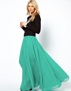 US$30.99] - Skin Color Skirts Pleated skirt Chiffon Dress ...