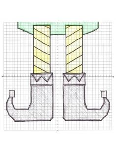 Christmas Elf Shoes Coordinate Graphing Ordered Pairs Myst