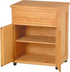 Rolling Storage on Casters  #Versatile #Kitchen #Bedroom #Storage #SolidWoodFurniture #JessCrateFurniture #SustainableFurniture #EcoFriendlyFurniture #MadeInTheUSA