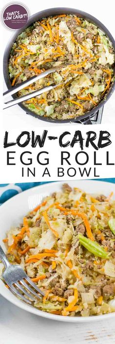 Low Carb Egg Roll in Bowl (Crack Slaw) - Recipe by That's Low Carb?!