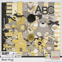 Bear Hugs by HD Creations #digitalscrapbooking #scrapbooking #stufftoscrap