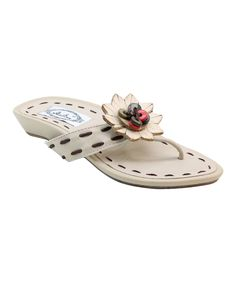 Another great find on #zulily! Bolaro Cream Flower Sandal by Bolaro #zulilyfinds