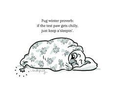 Pug Winter Proverb