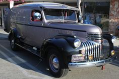 Clean & Mean. 1946 Chevy Panel Truck  by trail trekker, via Flickr