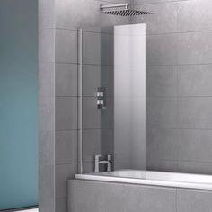 Belfry Bathroom Chancey 1400 mm x 800 mm PivotSemi-Frameless Bath Screen Bath Screens, Belfry Bathroom, Lighted Bathroom Mirror, Bath, Shower Doors, Attic Shower, Diy Plumbing, Aluminum Wall, Bathroom