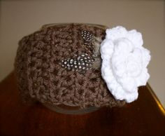 Boho Flower with feathers Headband / Ear warmer by kariodesigns, $22.00 Available in a large variety of colours. www.kariodesigns.com
