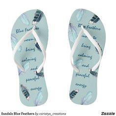 Sandals Blue Feathers Blue Feathers, Boat Decor, Blue Sandals, Summer Wear, Workout Wear, Travel Accessories, Flip Flops, Meditation, Slip On