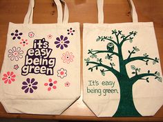 Decoration for the reusable bags