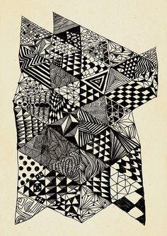 Astratto disegno woolf A4 formato A3 carta riciclata di DURIDO