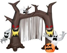 Archway-Ghostly Tree with Pumpkins | Christmas Light Express