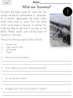 Reading comprehension passages - differentiated. Natural disasters.