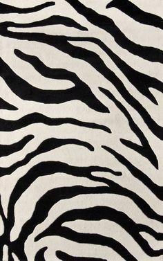 Serendipity Zebra Print Black Rug | Contemporary Rugs #RugsUSA