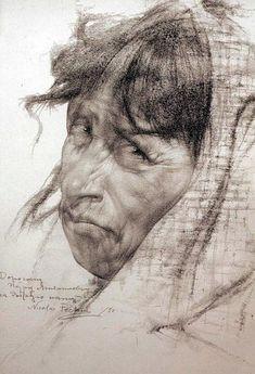 fechin_portrait_002.jpg (412×604) Nikolai Blokhin