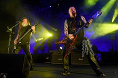 Slayer perform at The Joint inside the Hard Rock Hotel & Casino on March 26, 2016 in Las Vegas.