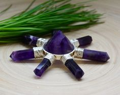 Wow ! Amethyst Pyramid ENERGY GENERATOR by PACIFICMINERALS on Etsy