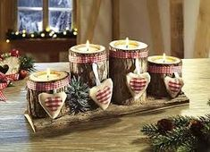 Make your own advent wreath - elegant, classic and romantic ideas - Make your own Advent wreath – ideas – Christmas decoration craft idea - Diy Crafts To Do, Xmas Crafts, Christmas Projects, Decor Crafts, Advent Candles, Christmas Candles, Christmas Decorations, Christmas Ornaments, Scandinavian Christmas
