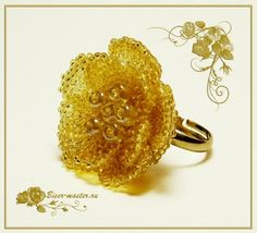 Learn to make three-dimensional flowers - use for rings or other components.  Detailed tute w/good pictures but must translate.  ~ Seed Bead Tutorials
