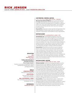 EmilyKelly Copywriter Resume   eat it   Pinterest   How to make cv ...
