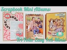 "Scrapbook Mini Albums: Tri-Folio Easy 4""x6"" Gift Albums - YouTube"